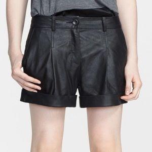 Elizabeth and James • Leather Shorts